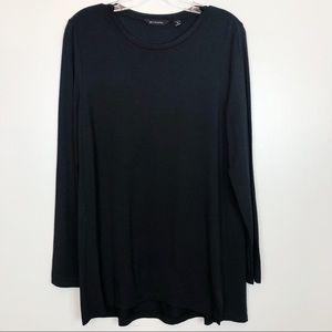 H by Halston   Black Long Length Tunic Long Sleeve